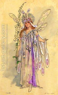 C. Wilhelm:Titania, Queen of the Fairies. Costume design for