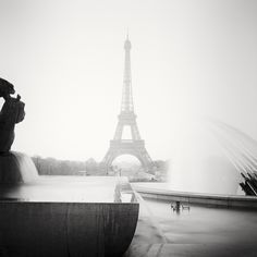 Gerald Berghammer, Ina Forstinger - Eiffel Tower Study, Paris, France - Black and White Fine Art Cityscape Photography Cityscape Photography, Photography 2017, Fine Art Photography, Landscape Photography, Panorama Camera, Powerful Images, Contemporary Landscape, Paris France, Black And White Photography