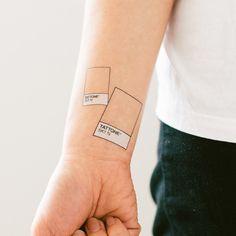 Tattone - Plan on a Pantone swatch tattoo. I NEED THIS #tattly