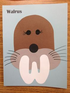 Walrus preschool craft: