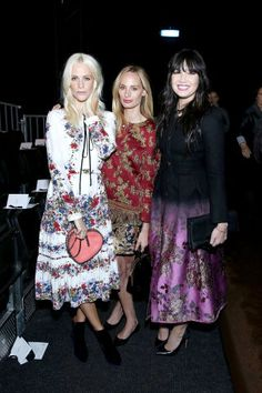 Fashion month parties continue in London with the best A-listers. Poppy Delevingne, Lauren Santo Domingo and Daily Lowe at Erdem