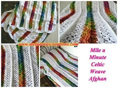 Crochet A Mile A Minute Celtic Weave Afghan The Homestead Survival - Homesteading -