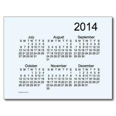 Alice Blue 2014 Mini 6 Month Calendar Post Card Design from Calendars by Janz