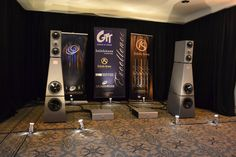 NYC Audio & AV Show '12  --- GTT Audio Room --- YG's Anat III Professional Signature speakers ($119,000/pair) driven by Soulution 501 monoblocks ($55,000/pair), a Soulution 750 phono stage ($25,000), Soulution 720 preamp ($45,000), wired with Kubala-Sosna Elation cables. Brinkmann Balance turntable ($24,000), with Brinkmann 12.1 tonearm ($7500) and an Air Tight PC1 Supreme cartridge ($15,000).