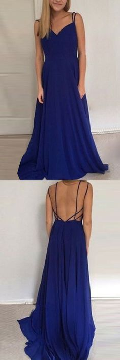 Long prom party dresses, chic backless fashion gowns, simple evening dresses with train, cheap gowns for fashion party.