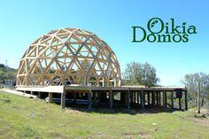 Enlace permanente de imagen incrustada Geodesic Dome Homes, Dome House, Fair Grounds, Recycling, Madeira, Shape