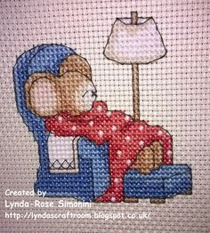 Furry Tales Snoozy Mouse The World of Cross Stitching Issue 198 January 2013 Saved