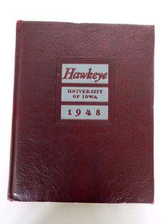 1948 UNIVERSITY OF IOWA HAWKEYE YEARBOOK EDDIE ANDERSON HAWKS FOOTBALL COACH