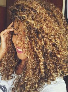 Spiral Perm Long Hair With Bangs Curly Permed Hair, Curly Hair Styles, Ombre Curly Hair, Colored Curly Hair, Curly Hair Tips, Curly Hair Care, Permed Hairstyles, Natural Hair Styles, Curly Girl