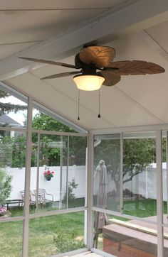 Enjoy your deck more this year! Add a 3 season sunroom, 4 season sunroom, or patio cover from B Wise Contractors! Sunroom financing available OAC. Glass Ceiling, Glass Roof, Ceiling Fan, Aluminum Uses, Extruded Aluminum, Four Season Sunroom, Covered Decks, Sunrooms, Windows