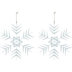 House Doctor Crystal Star Christmas Hanging Ornament - Set of 2 (£20) ❤ liked on Polyvore featuring home, home decor, holiday decorations, metallic, christmas ornament sets, house doctor, set of christmas ornaments, crystal home decor and star home decor