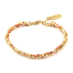 Colorful Gold Friendship Bracelet in Nude