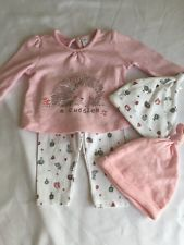 F&F Baby Girl Hedgehog Woodland Top Leggings Set Outfit Up To 1 Month Newborn