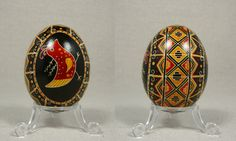 Large Chicken Design on Duck Egg by Natakuaya