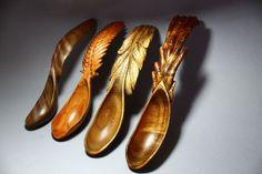 ღღ Beautiful art of woodcarving! ~~~ Abram Barrett :: Hawaii Spoons