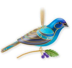 2013 Beauty of Birds Indigo Bunting EVENT EXCLUSIVE This Hallmark Keepsake Event exclusive ornament was originally available as event exclusive product at the 2013 Hangin' With Your Buddies Hallmark National Keepsake Ornament Club event.