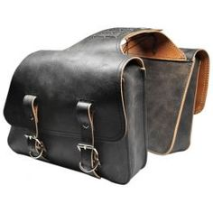 UNIVERSAL THROW OVER SADDLE BAG SET RUSTIC BLACK ORSBTO08 - LCS Motorparts