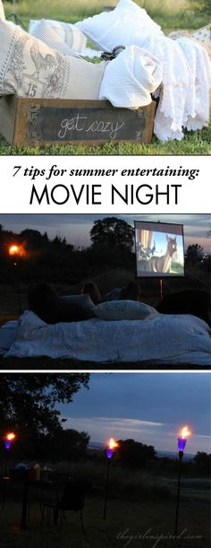 Plan an Outdoor Movie Night with your friends and family this season! Plus, learn 7 secrets for summer entertaining to make this party amazing.