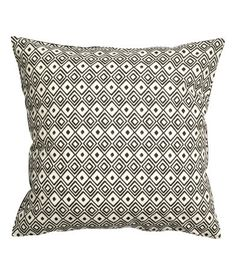 Product Detail | H&M USCotton Cushion Cover $5.99 New Arrival COLOR: Charcoal gray