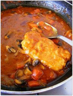 Schab po cygańsku Polish Recipes, New Recipes, Snack Recipes, Cooking Recipes, Polish Food, Snacks, Pork Dishes, Best Appetizers, I Foods