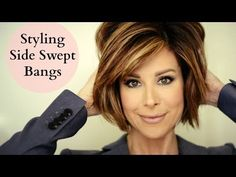 How To Blow Out Side Swept Bangs - YouTube