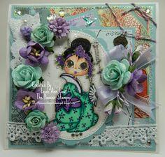 Handmade OOAK Cards by The Hoosier Stamper: Love this oriental beauty