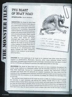 The Beast of Bray Road pg 1 Scary Stories, Ghost Stories, Of Wolf And Man, Myths & Monsters, Legends And Myths, Mothman, Urban Legends, Mythological Creatures, Asian History