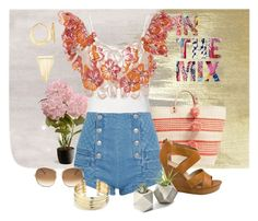 """In the Mix"" by uniques01 ❤ liked on Polyvore featuring Oliver Gal Artist Co., National Tree Company, Mar y Sol, Pierre Balmain, Johanna Ortiz, Seychelles, Ross-Simons, Chloé, Belk Silverworks and Simone I. Smith"