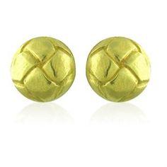 Angela Cummings 18K Yellow Gold Round Earrings