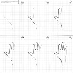 How to draw a hand.