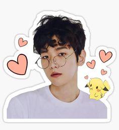Exo Kpop stickers featuring millions of original designs created by independent artists. Exo Stickers, Tumblr Stickers, Printable Stickers, Cute Stickers, Baekhyun, Overlays, Exo Lockscreen, Bujo, Kpop Exo