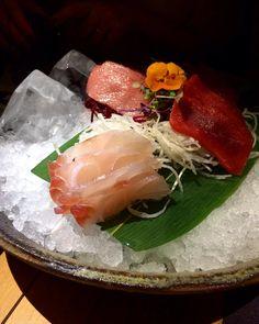 Tataki de toro atún rojo salmón y corvina. #tataki #sushi #food #madrid #ensosushi by icabanzon