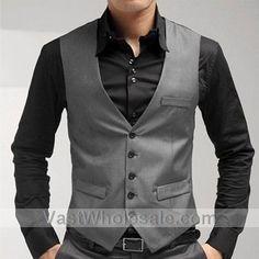 The High-grade Gray Men's Vest!!!