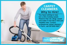 Carpet Cleaners – Why to Hire! - You have nothing to lose but a dirty looking carpet. Restore that old, dingy carpet and make it look like it was just installed new. Contact professional carpet cleaners in Perth, call 08 9309 9967 Carpet Cleaners, Cleaning Service, Perth, Restore, Work Hard, Restoration, Working Hard, Carpet Cleaner Solution