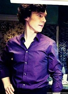 Sherlock and the travelling purple shirt