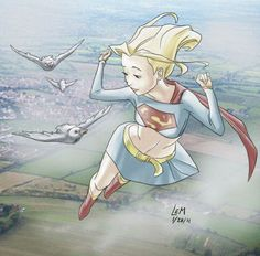 Supergirl is Super Cute – 19 illustrations of the flying blonde | Ufunk.net