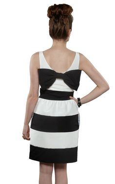 Stripe Black & White Dress