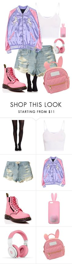 """cherry blossom ending"" by cadetremi ❤ liked on Polyvore featuring SPANX, Hollister Co., Dr. Martens, Miss Selfridge, Nicki Minaj and cutekawaii"