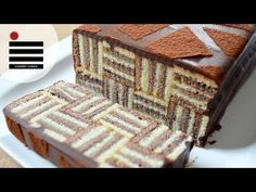Torta a Scacchi - Chess Cake (con biscotti Oreo) - Video Ricetta Easy Pastry Recipes, Easy Cake Recipes, Cookie Recipes, Dessert Recipes, Pastries Recipes, Checkered Cake, Striped Cake, Food Cakes, Cupcake Cakes
