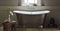Beautiful Babylon Bath with Patina interior and Copper exterior...Add luxury and glamour to your bathroom.