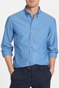 Smartcare(TM) Trim Fit Oxford Non-Iron Sport Shirt