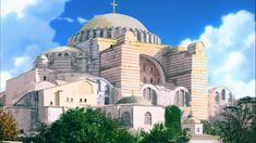 Hagia Sophia Architecture Antique, Roman Architecture, Historical Architecture, Architecture Details, Constantinople Map, Rome, Fantasy City, Hagia Sophia, Ancient Civilizations