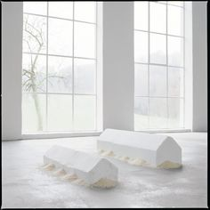 Milkstones & Rice. German artist Wolfgang Laib finds inspiration in the quiet, meditative beauty of natural materials. His sculptural installations rely almost exclusively on organic matter (ranging from pure pollen to marble) that the artist collects himself. In doing so, Laib investigates the unbridled essence of these natural forms in an effort to appeal to our collective instinct as beings instead of citizens.