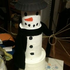 DIY Snowman, wonderful to make with the kids
