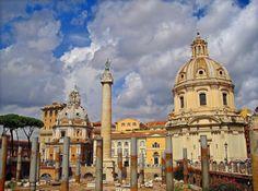 LA BASILICA ULPIA, era all'epoca della sua costruzione, la più grande basilica di Roma, inserita nel complesso del Foro di Traiano                     Google+
