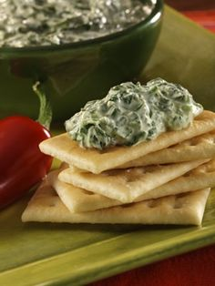warm spinach-garlic spread
