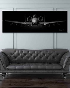 "Share Squadron Posters for a 10% off coupon! A-10 Jet Black Super ""Brrrrt"", Wide Canvas Print #http://www.pinterest.com/squadronposters/"