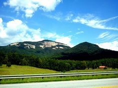 """TABLE ROCK & THE STOOL"" ~ Table Rock Mointain and ""The Stool"" mountain as seen from Cherokee Foothills Scenic Highway (SC Hwy 11) in northern Pickens County, SC."