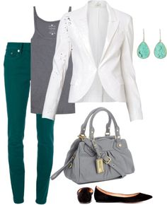 """Green Jeans"" by tullyforrester on Polyvore"
