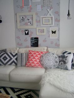 Scandinavian Furniture, First Home, Gallery Wall, Throw Pillows, Bed, Living Rooms, Home Decor, Nice, Style